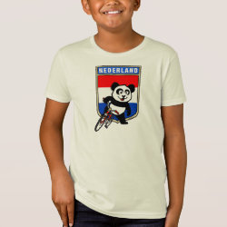 Kids' American Apparel Organic T-Shirt with Dutch Cycling Panda design