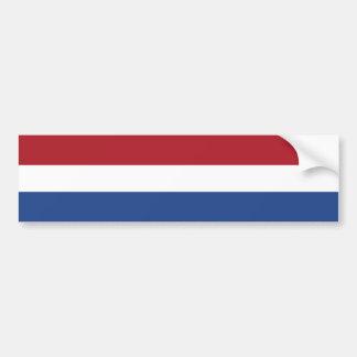 The Netherlands – Dutch Flag Car Bumper Sticker