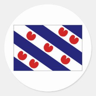 The Netherlands Friesland Flag Classic Round Sticker