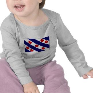 The Netherlands Friesland Flag T-shirts