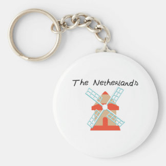 The Netherlands Basic Round Button Keychain