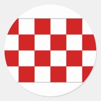 The Netherlands Noord Brabant Flag Round Sticker