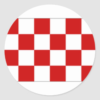 The Netherlands Noord-Brabant Flag Round Stickers