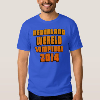 The Netherlands world champion 2014 football T-shirt