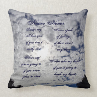 The Never Never Throw Pillow