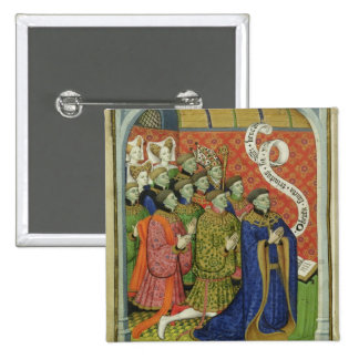 The Neville family at prayer 2 Inch Square Button