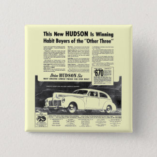 The New 1940 Hudson Automobile Button