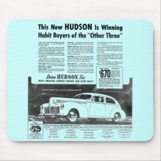 The New 1940 HUDSON Automobile Mouse Pad