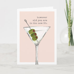 Martini Birthday Cards Zazzle
