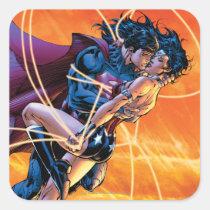 justice league new 52, jl new52, superman, wonder woman, aquaman, flash, cyborg, darkseid, batman, green lantern, dc comics, comic book covers, super heroes, Sticker with custom graphic design