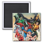 The New 52 Cover #1 4th Print 2 Inch Square Magnet