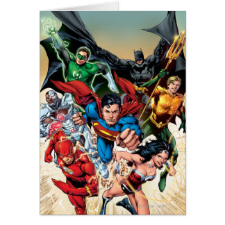 The New 52 Cover #1 4th Print Greeting Card