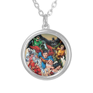 The New 52 Cover #1 4th Print Silver Plated Necklace