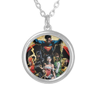 The New 52 Cover #1 Finch Variant Silver Plated Necklace