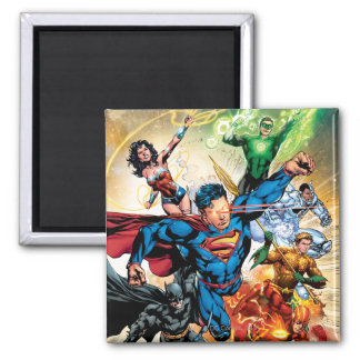 The New 52 Cover #2 2 Inch Square Magnet