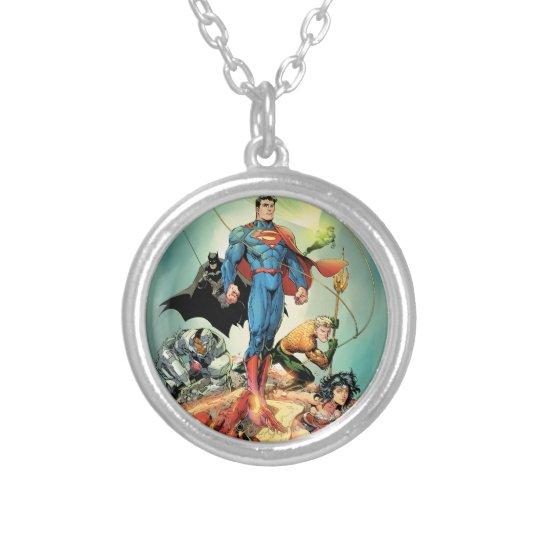 The New 52 Cover #3 Capullo Variant Silver Plated Necklace
