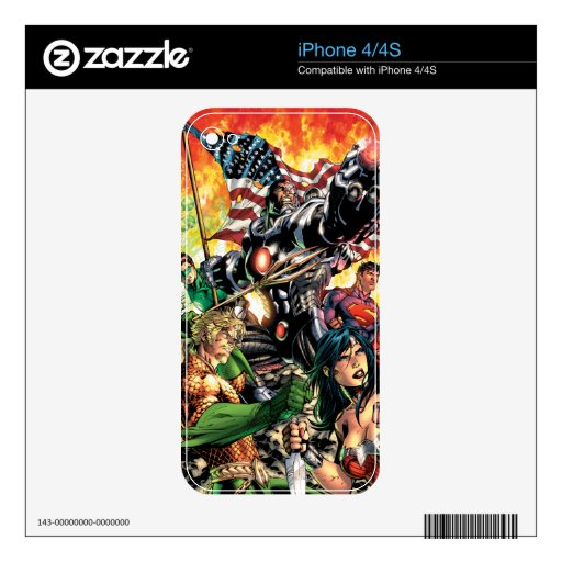 The New 52 Cover #5 Decal For The iPhone 4