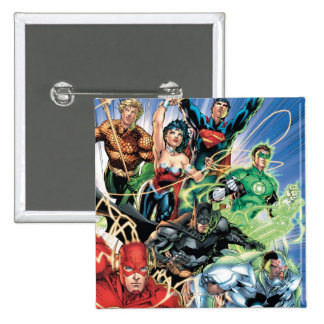 The New 52 - Justice League #1 2 Inch Square Button
