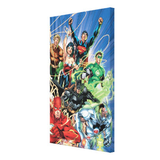 The New 52 - Justice League #1 Stretched Canvas Prints