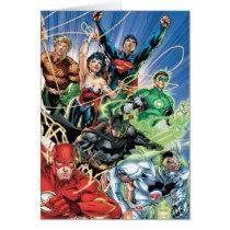 the new 52, new 52, dc comics, comics, justice league, 1, justice league number 1, justice league no. 1, Card with custom graphic design