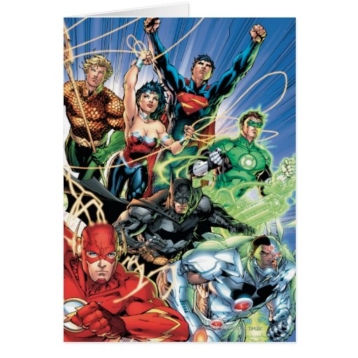 The New 52 - Justice League #1 Greeting Card