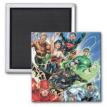 The New 52 - Justice League #1 2 Inch Square Magnet