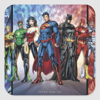 The New 52 - Justice League #1 Square Sticker