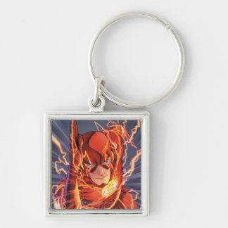 The New 52 - The Flash #1 Silver-Colored Square Keychain