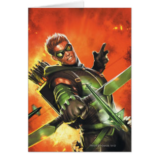The New 52 - The Green Arrow #1 Greeting Card