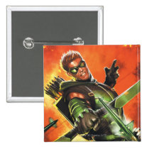 the new 52, new 52, dc comics, comics, justice league, the green arrow, green arrow, green, greenarrow, 1, greenarrow number 1, greenarrow no. 1, Button with custom graphic design