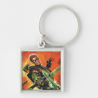 The New 52 - The Green Arrow #1 Silver-Colored Square Keychain