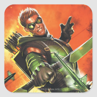 The New 52 - The Green Arrow #1 Square Sticker