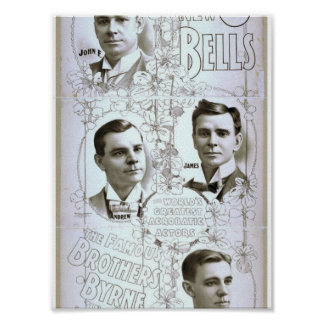 The New 8 Bells, 'Brothers Byrne' Retro Theater Print