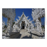 The new all white temple of Wat Rong Khun in Greeting Card