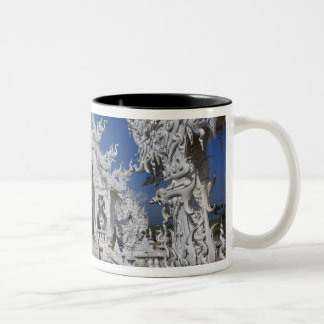 The new all white temple of Wat Rong Khun in Two-Tone Coffee Mug