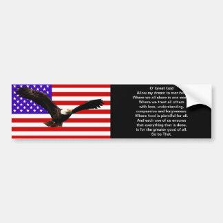 The New American Prayer Bumper Sticker