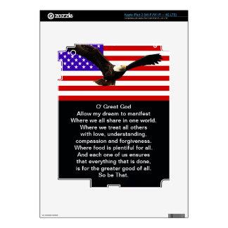 The New American Prayer iPad 3 Decals