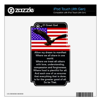 The New American Prayer iPod Touch 4G Decals