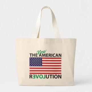The New American Revolution Large Tote Bag