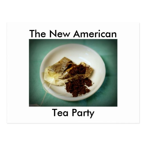 The New American Tea Party Postcard