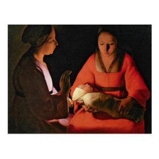 The New Born Child, late 1640s Postcard
