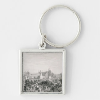 The New Crystal Palace at Sydenham, engraved by La Keychain
