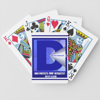 The New Democrat - Who protects your interests? Bicycle Poker Deck