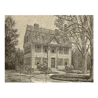 The New England Mansion Postcard
