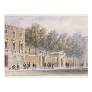 The New Entrance to Grocers' Hall, 1854 Postcard