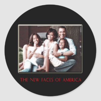 THE NEW FIRST FAMILY CLASSIC ROUND STICKER