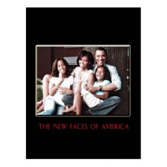 THE NEW FIRST FAMILY POSTCARD