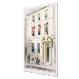 The New Front of Painter Stainers Hall, 1850 Canvas Print
