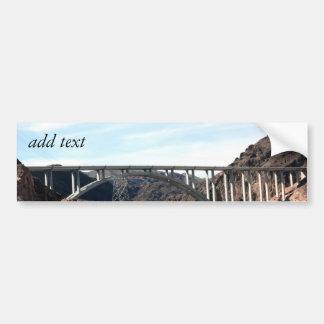 The New Hoover Dam Bypass Bridge Car Bumper Sticker