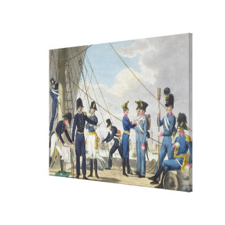 The new Imperial Royal Austrian Navy after the Nap Canvas Print